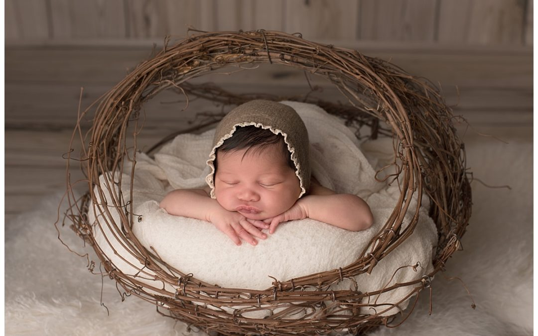 Organic inspired newborn baby girl session