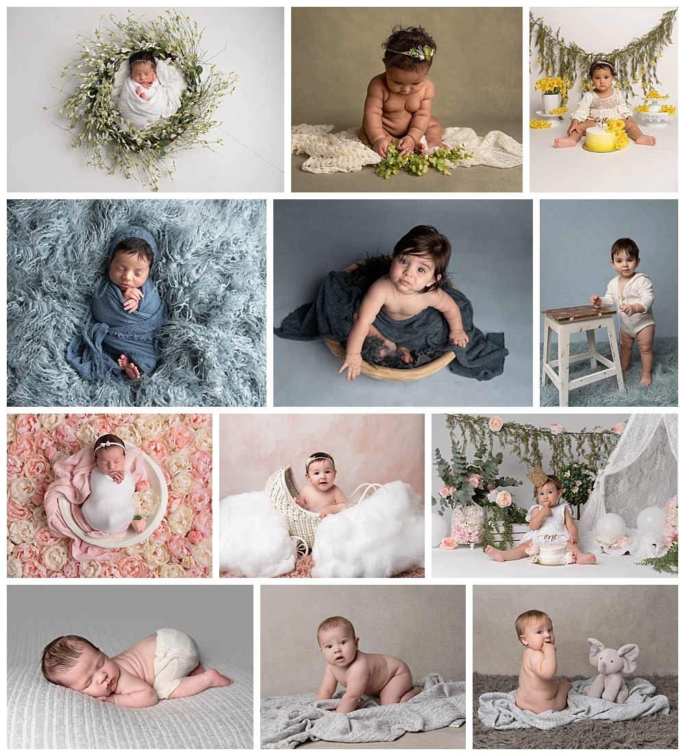 Houston Maternity and Newborn Photograher, La Vie Photography's collage of baby inmages.